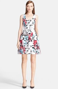 Prabal Gurung Sleeveless Print Stretch Cotton Dress available at #Nordstrom