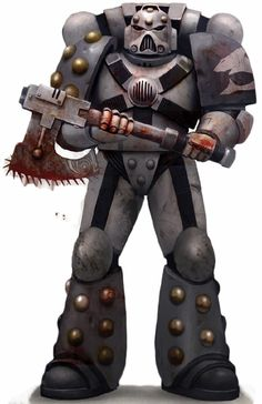 The Carcharodons (also known as Space Sharks or Carcharodon Astra) are a loyalist Space Marine Chapter with a reputation for ruthlessness and brutality.