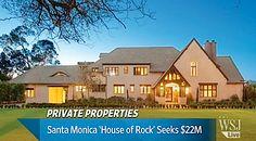 Santa Monica's 'House of Rock' Seeks $22 Million (VIDEO) Santa Monica Houses, Private Property, Real Estate, Sky, Rock, Mansions, House Styles, Home Decor, Heaven
