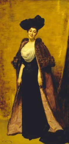 1891 Maggie on her honeymoon in France by Emile-Auguste Carolus-Duran (Polesden Lacey - Great Bookham, Surrey, UK)