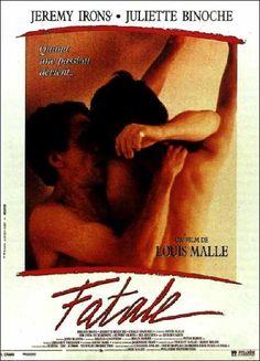 Fatale, l'affiche du film de Louis Malle (1992).