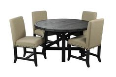 Jaxon 5 Piece Round Dining Set W/Upholstered Chairs - Signature
