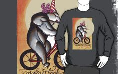 circus bear shirt, make it look easy  tattoo flash style--I bought this shirt!