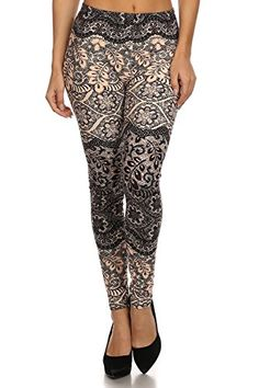 Vesi Star Women's Printed Fashion Leggings ( PLUS SIZE )...Composition: 92% Polyester/ 8% Spandex and Each unique design is inspired by the nature around us One size regular. Fit USA 10=24 sizes. Four way stretch. High waist design. Comfortable, soft, stretch perfect for every day use Super Comfort and Super Soft Fabric / Moisture Wicking and Perfect for any type of Physical Activity