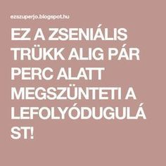 EZ A ZSENIÁLIS TRÜKK ALIG PÁR PERC ALATT MEGSZÜNTETI A LEFOLYÓDUGULÁST! Clean Up, Diy And Crafts, Tips, Ysl, Style, Candy, Projects, Creative, Swag