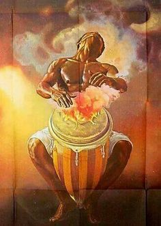 Black History Article Archive on the Kingdoms and Empires of Pre-Colonial Africa African Art Paintings, African Artwork, Religion In Africa, Shango Orisha, Orishas Yoruba, African Mythology, Afrique Art, History Articles, Arte Tribal