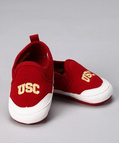 Take a look at this Campus Footnotes Red Southern California Shoe - Kids by Spirited Feet Collection on #zulily today!