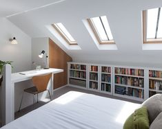 57 Modern Small Bedroom Design Ideas For Home. It used to be very difficult to get a decent small bedroom design but the times have changed and with the way in which modern furniture and room design i. Attic Bedroom Designs, Attic Bedroom Small, Attic Playroom, Attic Loft, Loft Room, Attic Design, Attic Bathroom, Attic Spaces, Bedroom Loft