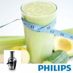 #Philips #VivaCollection #Juguera #HR1863 Máxima extracción de jugo. Mínimo esfuerzo. #Receta: #Jugo Especial! 2 manzanas verdes 1/3 pepino mediano 2 tallos de apio 3cm jengibre 1/2 aguacate hielo