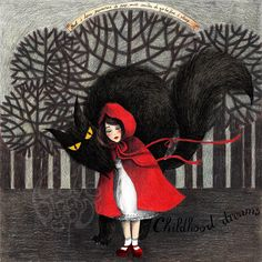 [Dark] Fairy Tales by Raquel Costa, via Behance