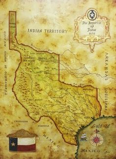Map Of The Republic Of Texas In 1836