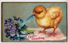 Happy Easter  Vintage Postcard Easter Chick by sharonfostervintage, $3.50