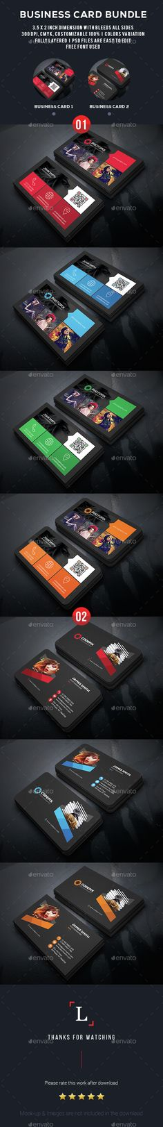 Photography Business Card Bundle — Photoshop PSD #official #standard • Available here → https://graphicriver.net/item/photography-business-card-bundle/15352213?ref=pxcr