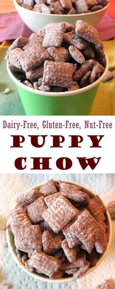 Puppy Chow Snack Mix Recipe - dairy-free, gluten-free, vegan and nut-free optional
