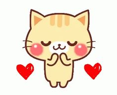 gojill the meow gif Animated Heart, Animated Gif, Bisous Gif, Gif Bonito, Gif Lindos, Animated Emoticons, Cute Love Gif, Cat Character, Animation