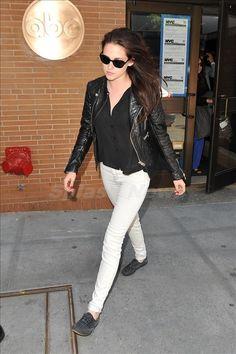 CELEB STYLE: Kristin Stewart in white jeans