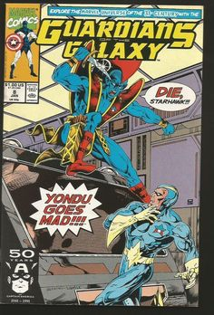 card cover Guardians of the Galaxy #25 1992 vf/nm 9.0 giant size