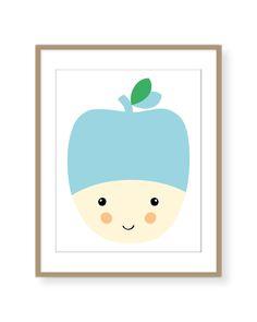 Tom Affiche giclée illustration pour bébé par CarreLime sur Etsy