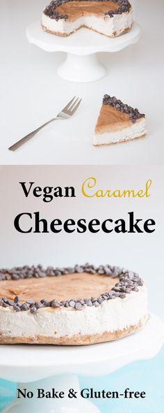 Vegan Caramel Cheesecake Recipe | VeganFamilyRecipes.com | #glutenfree #dessert #cake