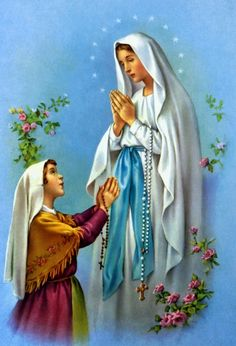 Our lady of Lourdes Holy Mary-Adriana creation Mother Mary Images, Images Of Mary, Blessed Mother Mary, Blessed Virgin Mary, Religious Icons, Religious Art, Rosary Novena, Immaculée Conception, La Salette