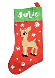 I just love Rudolph and Clarice. Stocking Template b8e91aafd