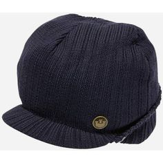 Goorin Clear Headed Peaked Visor Beanie Hat - Navy Blue ($15) ❤ liked on Polyvore featuring accessories, hats, navy blue, visor beanie, beanie hats, peak hat, sun visor and visor beanie hat