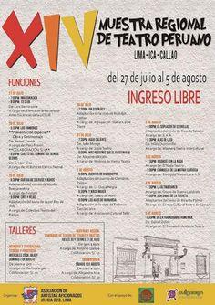 LIMA VAGA: XIV Muestra Regional de Teatro Peruano llega a la ...