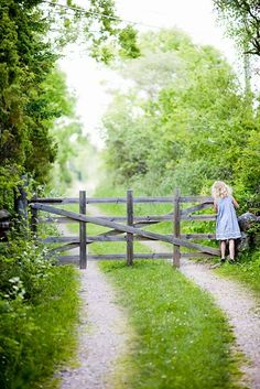 This reminds me of being a curious little girl looking for horses beyond the pretty fence.