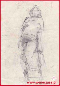 Dibujo de boceto - Modelo. ESCUELA DE DIBUJO Y PINTURA wenecjusz.pl Technical University, Sketch Drawing, Learn To Draw, Nude, Fine Art, Drawings, Painting, Figure Drawing, Sketch