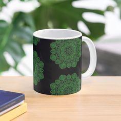 Green Mandala Pattern - Just Let Go Mug Mandala Pattern, Letting Go, Ceramics, Let It Be, Mugs, Tableware, Green, Prints, Accessories
