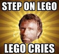 Stepped on a lego?