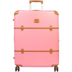 """Bric's Belliago 27"""" Trunk ($595) ❤ liked on Polyvore featuring home, home decor, small item storage, bags, furniture, pink home decor, brics bags and pink trunk"""