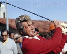 Dean Martin - Don't see much of this anymore, smoking a cigaret while playing a sport. #TakeTwoVisorShop #BlastFromThePast