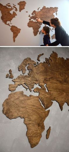 World Map Poster Art for Wall