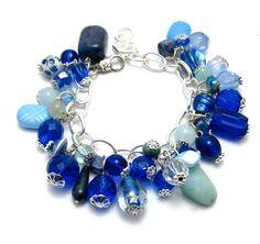 Statement Bracelet Ocean Blue by SetsukoJewelry on Etsy, $49.99