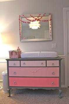 Ombré dresser for the changing station.
