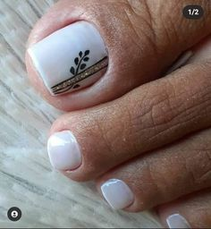 Cute Toe Nails, Cute Toes, Gel Nails, Pedicure Designs, Nail Designs, Trendy Nails, Manicure And Pedicure, Cilantro, Hair And Nails