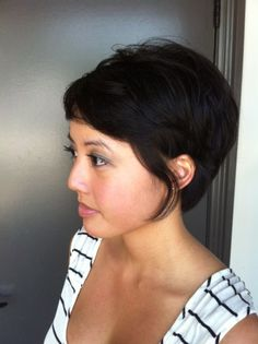 Long Pixie. Cut and style by Neil George Salon stylist Alessandra Saman.  I miss my short hair and kinda love this style!