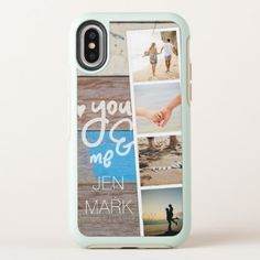 You & Me. Photo Collage of Memories. Wood Panel. OtterBox Symmetry iPhone X Case - monogram gifts unique design style monogrammed diy cyo customize