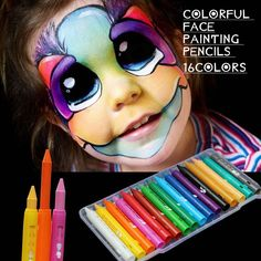16 Colors Safe Non-Toxic Face Body Painting Pen Art Halloween Party Fancy Dress Beauty Makeup Tool For Christmas Body Paint Pen