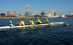 """Marquette Crew on Instagram: """"Novice Men's 4+ putting the work in on the lake this morning #wintogether"""""""