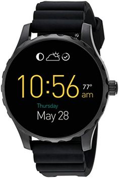 Fossil Q Wander Gen 2 Touchscreen Tan Leather Smartwatch ** You can find more details by visiting the image link. Fossil Watches, Cool Watches, Watches For Men, Casual Watches, Smart Bracelet, Bracelet Watch, Fossil Q Wander, Smartwatch, Wearable Technology