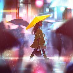 #artist: @yeuujjn #graphic #print #pic #picture #picoftheday #image #instaart #instapic #instagood #instalike #bestoftheday #art #artistic #artwork #drawing #instagram #illustration #girl #dziewczynasołtysa #beautiful #creative #creativity #draw #umbrella #rain #city #rainyday #illustratons