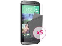 Films de protection HTC One M8 Clubcase ® HD Lot de 5