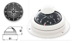 """COMET 1"" COMPASS : Compass ""COMET 1″ model binnacle mounting with black card and anti-glare screen. http://safeseashop.com/product/comet-1-compass-2/"