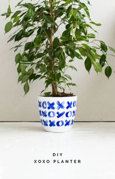 DIY XOXO Ceramic Love Planter Tutorial!