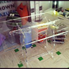 Tavolo trasparente. #table #plexiglass #madeinitaly #design