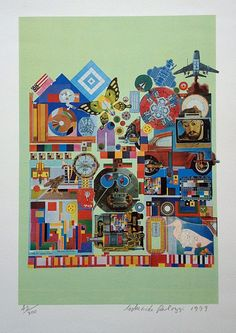 Eduardo Paolozzi: Colour Theory Experiment (1979), lithograph. Small but perfectly formed!