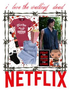 """""""Netflix and The Walking Dead"""" by mo-g-v ❤ liked on Polyvore featuring Essie and Free Press"""