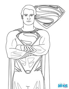 Free Superman Coloring Pages With Superman Printing And Drawing